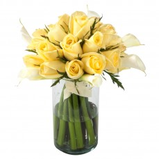 Calla and yellow rose surprise at Alamo Heights Flowers and More