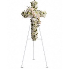 White and Pink Bliss Standing Cross