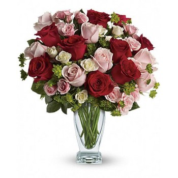 Cupid's Creation with Red Roses by Alamo Heights Flowers and More