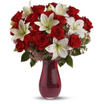 Luxurious Red Rose Passion by Alamo Heights Flowers and More