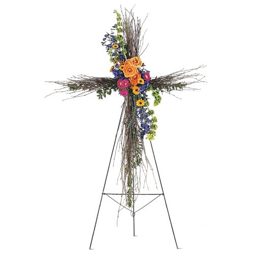 Birch Compassion Cross by Alamo Heights Flowers and More