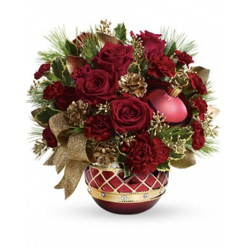 Jeweled Ornament Bouquet by Alamo Heights Flowers and More