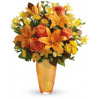 Amber Elegance Bouquet by Alamo Heights Flowers and More