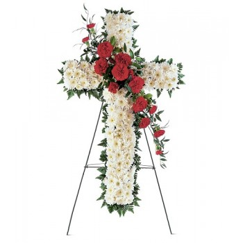 A Hope and Honor Cross by Alamo Heights Flowers and More