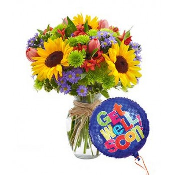 European Gardens Bouquet Get Well by Alamo Heights Flowers and More