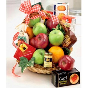 Fruit & Gourmet Basket by Alamo Heights Flowers and More