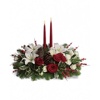 Christmas Wishes Centerpiece by Alamo Heights Flowers and More