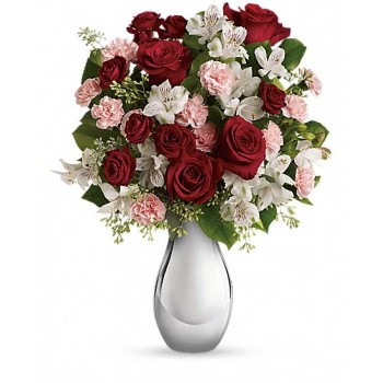 Crazy for You Bouquet with Red Roses by Alamo Heights Flowers and More