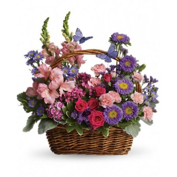 Country Basket Blooms by Alamo Heights Flowers and More