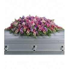 Lavender Tribute Casket Spray at Alamo Heights Flowers and More